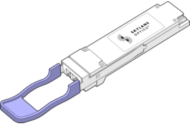 QSFP56 stands for Quad 50 Gigabits Small Form-factor Pluggable . This optical transceiver supports data rates up to 200 Gbps and fits QSFP56 port of any brand of equipment. Skylane Optics offers a full range of QSFP56 transceivers with an unique set of services, such as testing, coding, customization, effective support & technical expertise