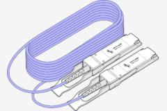 The QSFP56 to QSFP56 DAC/AOC cable consists in 2 QSFP56 directly attached via copper cable/fiber. This type of cable supports data rates up to 200Gbps and fits QSFP port of any brand of equipment. Skylane Optics offers a full range of QSFP56 cables with an unique set of services, such as testing, coding, customization, effective support & technical expertise