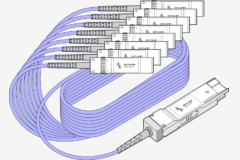 The QSFP-DD to 8x SFP28 DAC/AOC cable consists in 1 QSFP-DD on one end directly attached via copper cable/fiber to 8 times SFP28 on the other end . This type of cable supports data rates up to 200Gbps and fits QSFP-DD and SFP ports of any brand of equipment. Skylane Optics offers a full range of QSFP-DD to 8x SFP28 cables with an unique set of services, such as testing, coding, customization, effective support & technical expertise